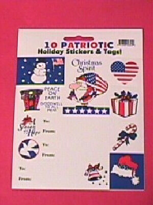 Patriotic Holiday Stickers and Tabs