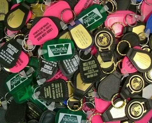 Assorted Misprinted Keychains