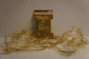 Gold Metallic Fringe Ribbon