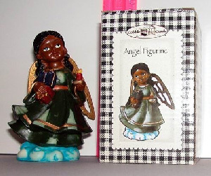 144 Per Case African American Polyresin Angel Figurine