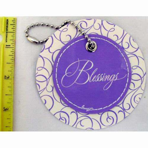 American Greetings Blessings Circle Gift Tag with Chain