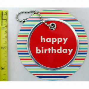 96 Per Case American Greetings Happy Birthday Circle Gift Tags