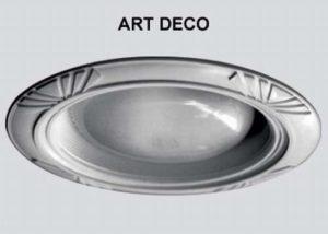 24 Per Case Art Deco Style Decorative Replacement Wambaugh Trim for Recessed Lighting