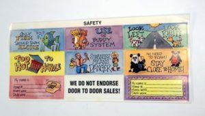 Safety Reminder Sticker Sheet Includes 9 Stickers