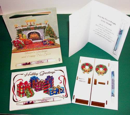 wholesale assorted christmas greeting cards with misprint plastic, Greeting card