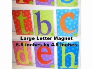 Assorted Large Letter Magnets
