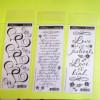 Assorted Miss Elizabeth's Wedding Black Rub-On Stickers
