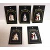 Pat Richter Designs Finely Painted Assorted Snowman Lapel Pins
