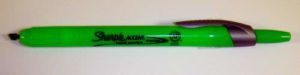 Retractable Sharpie Green Highlighter with Chisel Tip