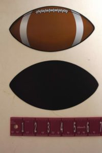 Large Football Magnet 7 Inch Wide