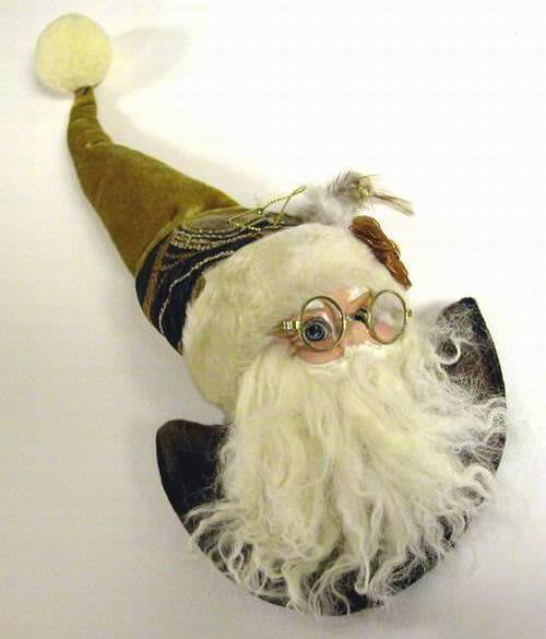 ''14'''' Santa Gold Ornament with GLASSES''