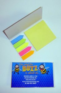 Misprint Sticky Notepad with Sticky Colored Arrows