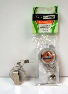 Baumgartens Toothbrush Card ID Reel Badge Holder