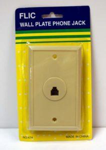 Wall Plate Phone Jack