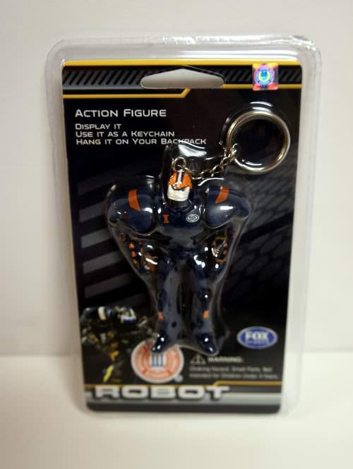 Illinois Fighting Illini 3 Inch Fox Robot Sports Keychain