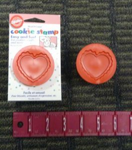 Wilton Heart Shaped Cookie Stamp