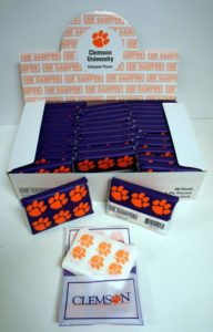 Licensed NCAA Clemson Tigers Pack of Tissues