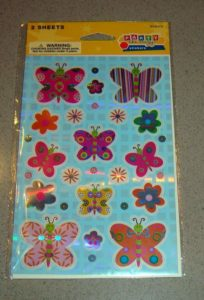 Party Like Crazy Butterfly Sticker Sheets