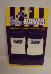 NCAA Licensed LSU (Pack of 4) Dog Socks