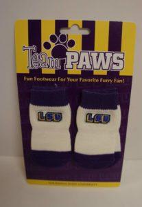 NCAA Licensed LSU (Pack of 4) Dog Socks