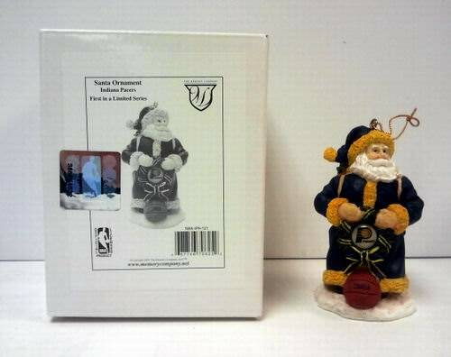 Officially Licensed NBA Indiana Pacers Polyresin Santa Ornament