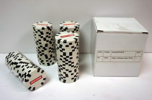Craftsman poker chips
