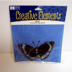 Creative Elements Craft Painted Muslin Blue Butterfly
