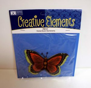 Creative Elements Painted Red Butterfly