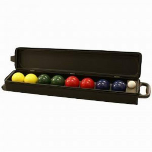 Gamenamics 90mm Bocce Ball Set with Wheeled Carrying Case