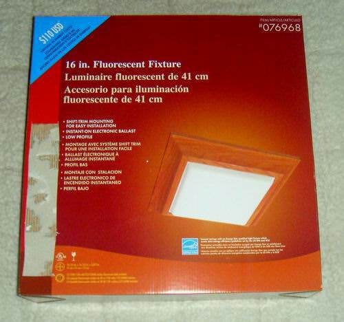 Wholesale Good Earth 16 Inch Square Trim Wood Fluorescent Lighting ...