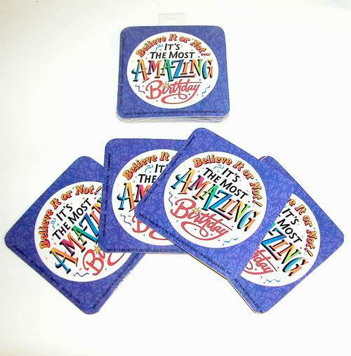 Set of 4 Ripley's Birthday Coasters