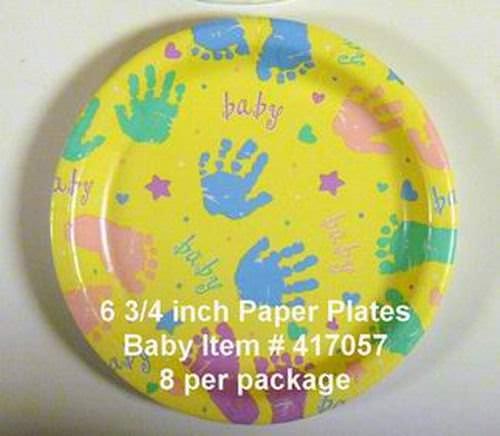 Baby Prints Paper Dessert Plates