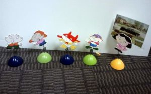 Wooden Cartoon Photo Picture Holders With Spring And Clip