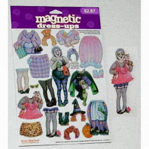 48 Per Case Halloween Witch Magnetic Dress-Ups