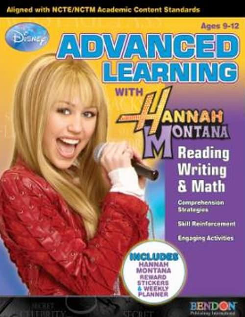 Hannah Montana Advanced Learning Reading, Writing & Math Workbook