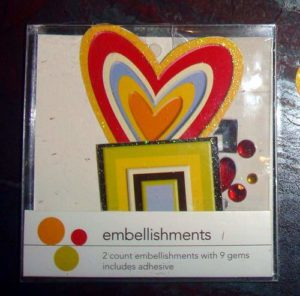 Wholesale Heart and Star Scrapbooking Embellishments with Gems