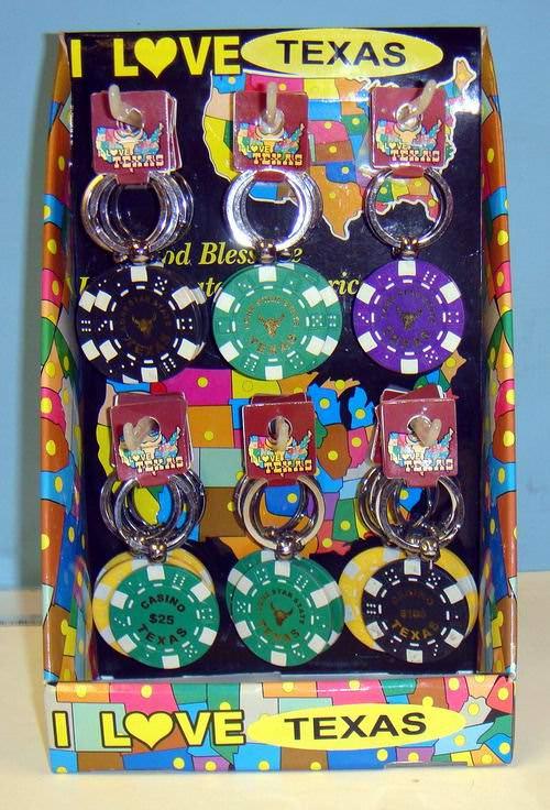 72 Per Case Poker Chip Keychains