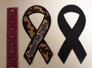 """Wholesale Camouflage Support Our Troops Patriotic 8"""" Ribbon Magnet"""