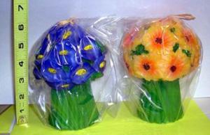 24 Per Case Large Flower Bouquet Candles
