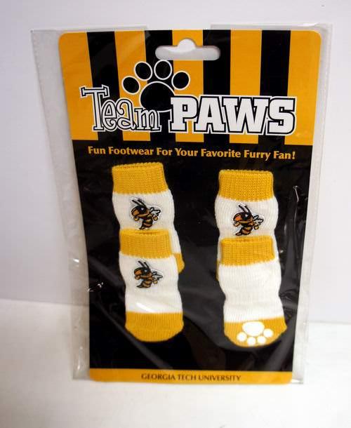 Licensed Georgia Tech University (Pack of 4) Dog Socks