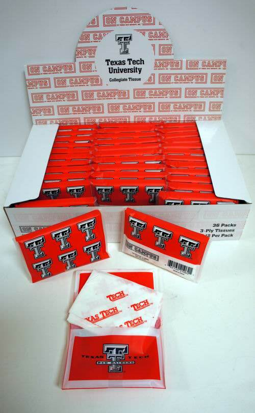 the best attitude b450b 32eda Wholesale Licensed NCAA Texas Tech Red Raiders Pack of Tissues