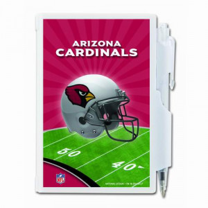 NFL Arizona Cardinals Hard Cover Pocket Notes with Pen