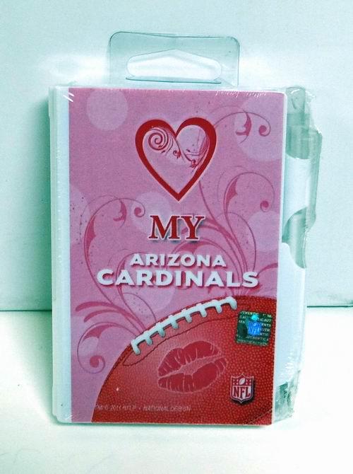 Pink Arizona Cardinals Hard Cover Pocket Notes with Pen