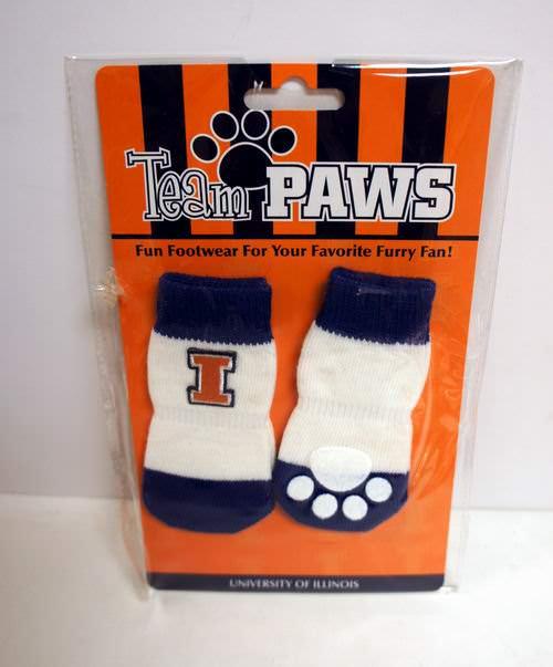 Licensed University of Illinois (Pack of 4) Dog Socks