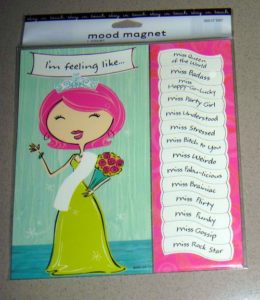 Novelty Sassy Mood Magnet with 14 Different Moods