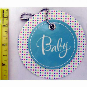 American Greetings Baby Circle Gift Tag with Chain