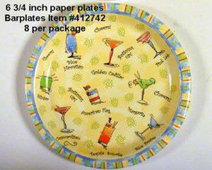 """Patio BBQ"" Paper Dessert Plates"