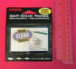 72 Per Case Self Stick Clear Notes