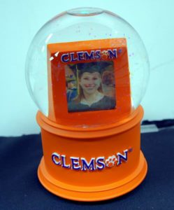 NCAA Officially Licensed Clemson University Photo Musical Glass Waterglobe