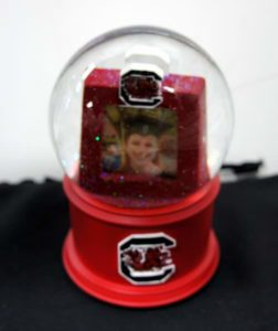 South Carolina University Photo Frame Musical Glass Waterglobe